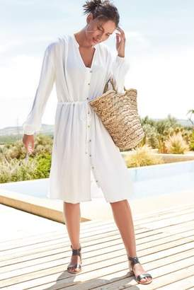 Next Womens White Shirt Cover-Up