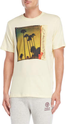 Franklin & Marshall Sun Yellow Palm Photo Tee