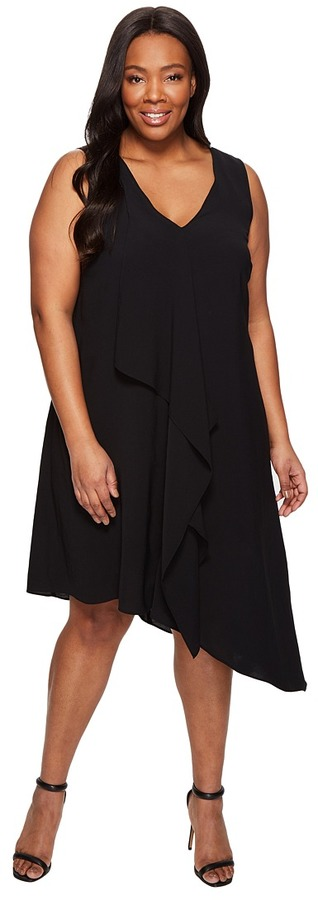 Adrianna PapellAdrianna Papell Plus Size Asymmetrical Front Drape Dress