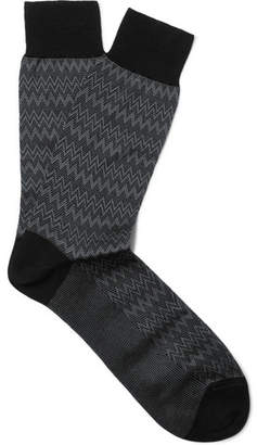 Missoni Crochet-Knit Cotton Socks