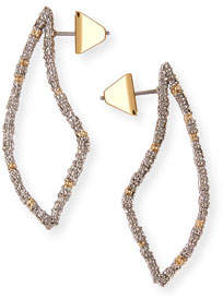 Alexis Bittar Pave Crystal-Encrusted Thorn Drop Earrings