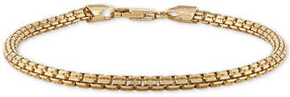 Esquire Men Jewelry Box Link Chain Bracelet in 14k Gold-Plated Sterling Silver