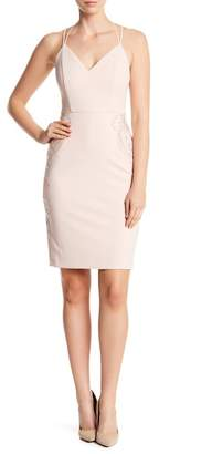 GUESS V-Neck Strap Crossback Dress