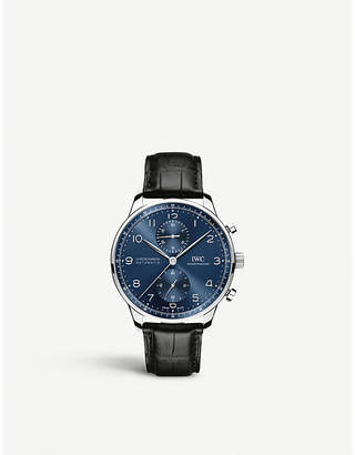 IWC IW371491 Portugieser stainless steel chronograph watch