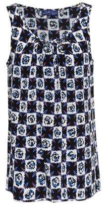 Emilio Pucci Bow-detailed Checked Silk Tank