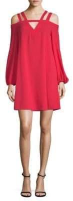 BCBGMAXAZRIA Strappy Cold-Shoulder Shift Dress