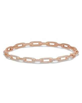 David Yurman Stax Chain Link Bracelet in 18k Rose Gold w/ Diamonds $4,250 thestylecure.com
