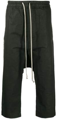 Rick Owens drop crotch cropped trousers