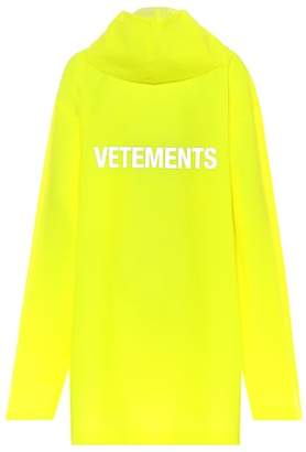 Vetements Printed raincoat