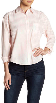 Abound Long Sleeve Stripe Chest Pocket Blouse