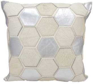 Nourison Mina Victory Natural Leather Hexagon Pillow