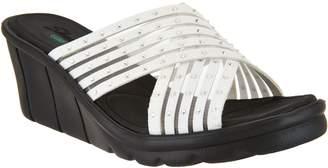 Skechers Cross-Band Slide Wedge Sandals - Star Light