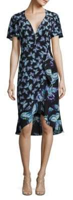 Nanette Lepore Mariposa Butterfly-Print Silk Dress