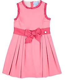 Lanvin KIDS' SASH-DETAILED COTTON SLEEVELESS DRESS