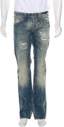 Galliano Distressed Denim Jeans w/ Tags
