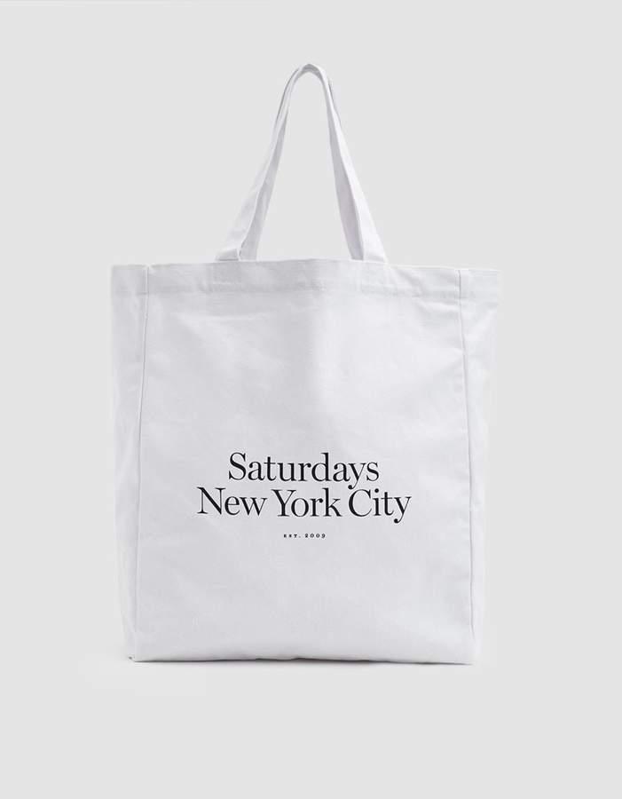 Saturdays Nyc Miller Standard Tote in White