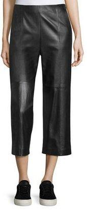 Vince Seam-Trim Leather Culottes $995 thestylecure.com