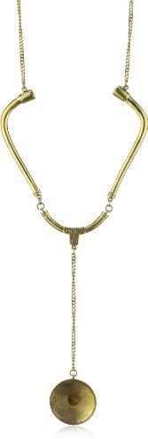 "Monserat De Lucca Brass Stethoscope Necklace, 35"""