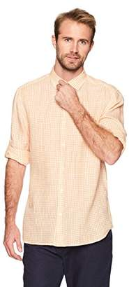 Isle Bay Linens Men's Standard-Fit 100% Linen Long-Sleeve Woven Shirt