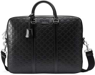 Gucci Signature leather briefcase