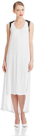DKNY PURE Colorblocked Shirttail Hem Maxi Dress