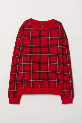 H&M H&M+ Printed Sweatshirt - Red