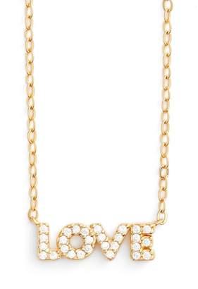 Nadri Pave CZ Love Pendant Necklace