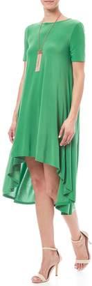 Solo La Fee Emerald High Low Dress