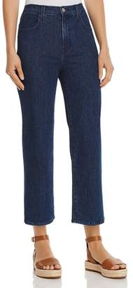 J Brand Joan High Rise Crop Wide Leg Jeans in Match