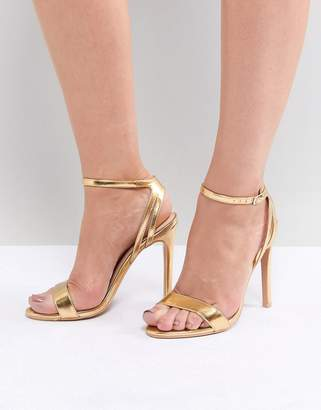 Runaway Heeled Sandals - Nude patent Public Desire Lb0BA4