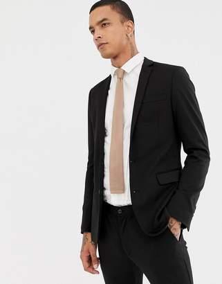 Devils Advocate Super Skinny Plain Suit Jacket