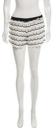 Alexis Scalloped Mid-Rise Mini Shorts