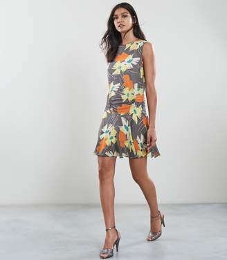 Reiss REMI FLORAL PRINTED DRESS Multi