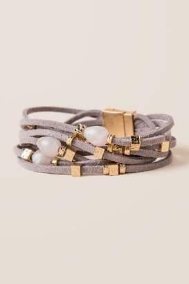 francesca's Antonia Magnetic Bracelet - Gray