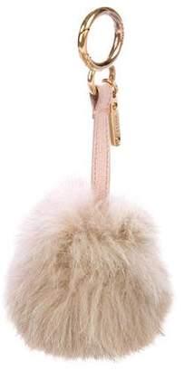 Fendi Bi-Color Shearling Bag Charm