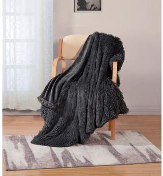 RT Designers Collection Posh Shaggy 50 x 60 in. Throw, Grey