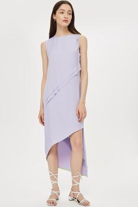Topshop Shoulder Step Hem Dress by Boutique