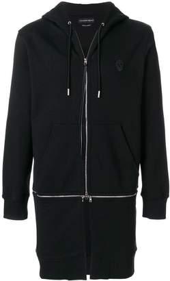 Alexander McQueen long zipped hoodie