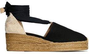 Castaner Campina Basketweave And Canvas Wedge Espadrilles