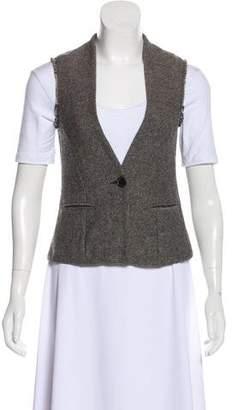 Etoile Isabel Marant Wool-Blend Frayed Trim Vest