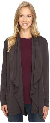 Mod-o-doc Cotton Spandex French Terry Cardigan Women's Sweater