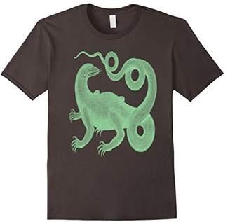 Dragon Optical Komodo Illustration - Abertus Seba - T-Shirt