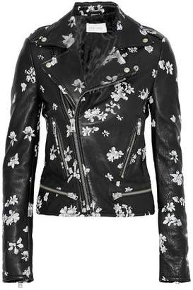 IRO Phedra Floral-Print Leather Biker Jacket