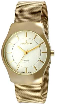 Peugeot Men's '14K Plated' Quartz Metal and Stainless Steel Dress Watch