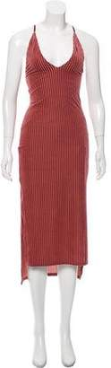 Privacy Please Stripe Velvet Dress w/ Tags