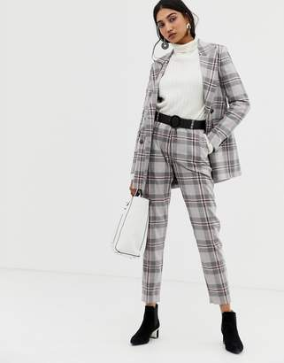 Selected Mika cropped check pants