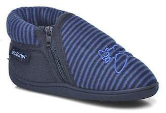 Isotoner Kids's Bottillon Zip Polaire Slippers In Blue - Size Uk 8.5 Infant / Eu