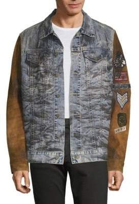 Patchwork Denim & Suede Jacket