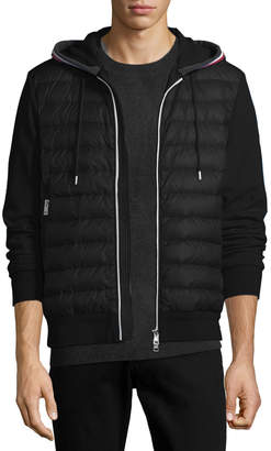 Moncler Maglia Quilted Cardigan Hoodie