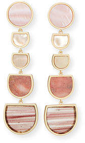 Kendra Scott Jackman Stone Tiered Drop Clip-On Earrings